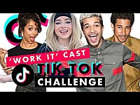 Thumbnail for the Liza Koshy - Sabrina Carpenter and the Work It! Cast Try Tiktoks   TikTok Challenge   Cosmopolitan link, provided by host site