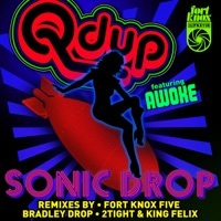 Thumbnail for the Q'd Up - Sonic Drop Remixes link, provided by host site