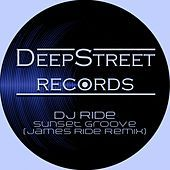 Thumbnail for the DJ Ride - Sunset Groove (James Ride Remix) link, provided by host site