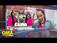 Thumbnail for the JoJo Siwa - Surprises 2 Nebraska students who started their own business l GMA link, provided by host site
