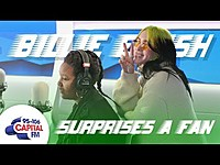 Thumbnail for the Billie Eilish - Surprises Her Biggest Fan 💚 | Capital link, provided by host site
