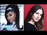 Thumbnail for the Ariana Grande - Teases 34 + 35 Remix Collab, Lana Del Rey On the 'Madness Of Trump' | Billboard News link, provided by host site