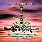 Thumbnail for the Basil Poledouris - The Adventures Of Conan / Sword And Sorcery Spectacular (Original Soundtrack Recording) link, provided by host site
