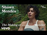 Thumbnail for the Shawn Mendes - The Making of 'Wonder' | Vevo Footnotes link, provided by host site