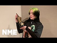 Thumbnail for the Billie Eilish - Wins Best Song In The World at NME Awards 2020 link, provided by host site