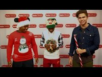 Thumbnail for the Zay Hilfigerrr - & Zayion McCall Candy Cane Limbo | Radio Disney Unwrapped link, provided by host site